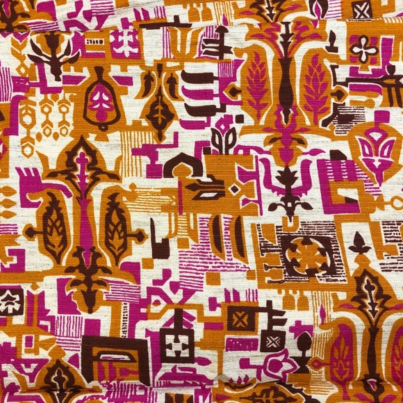 Vintage 60s/70s mid century modern fabric